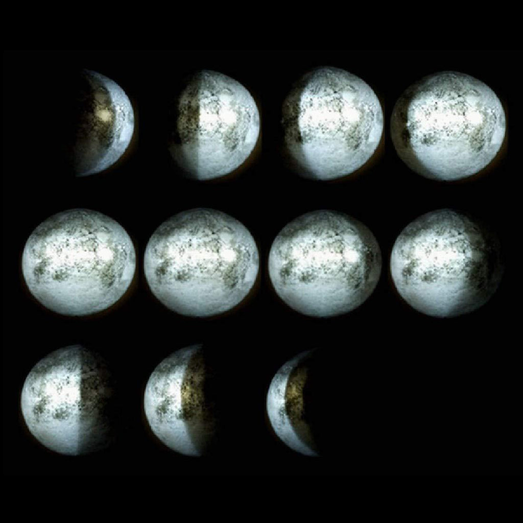 LED Moon Wall Lamp with 12 Moon Phases