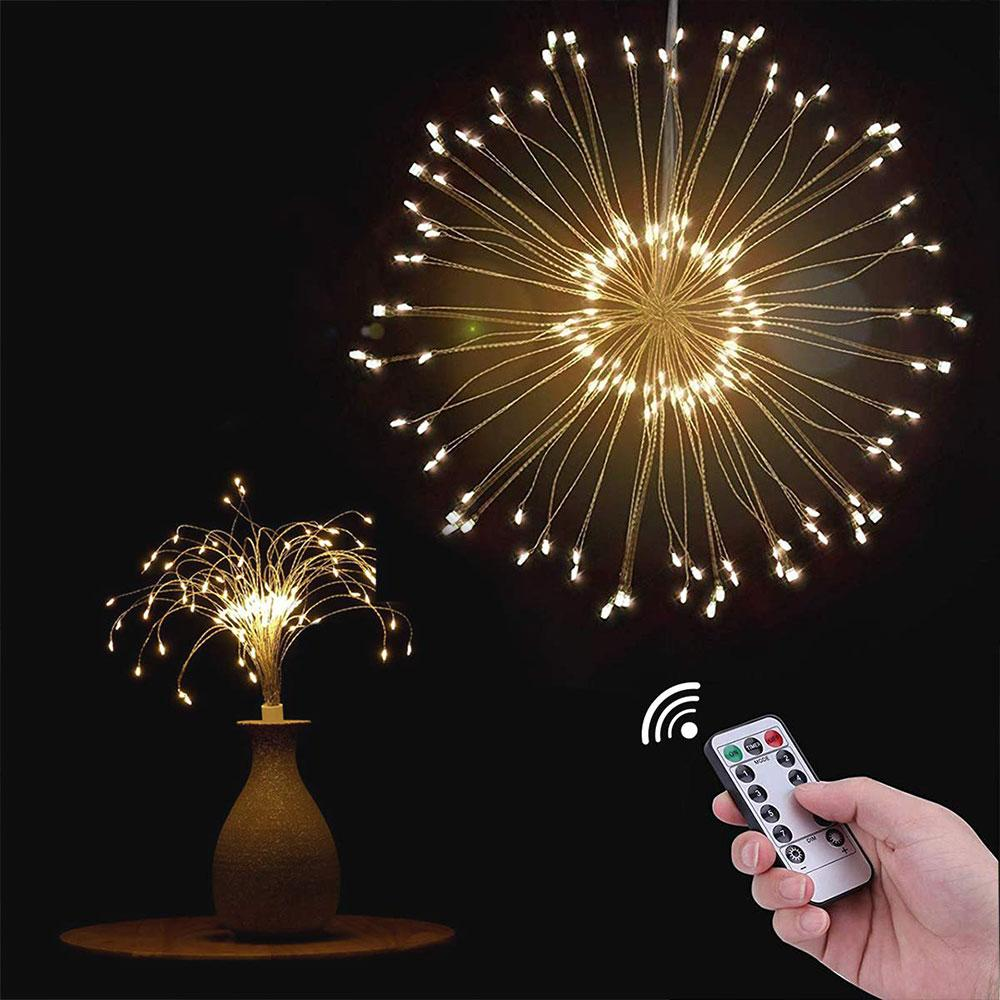 Batteries Powered Fireworks Starburst Lights 100 or 200 LEDs