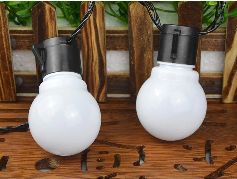 Solar Powered LED Bulbs String Light Extra Long 5m 20 Bulbs