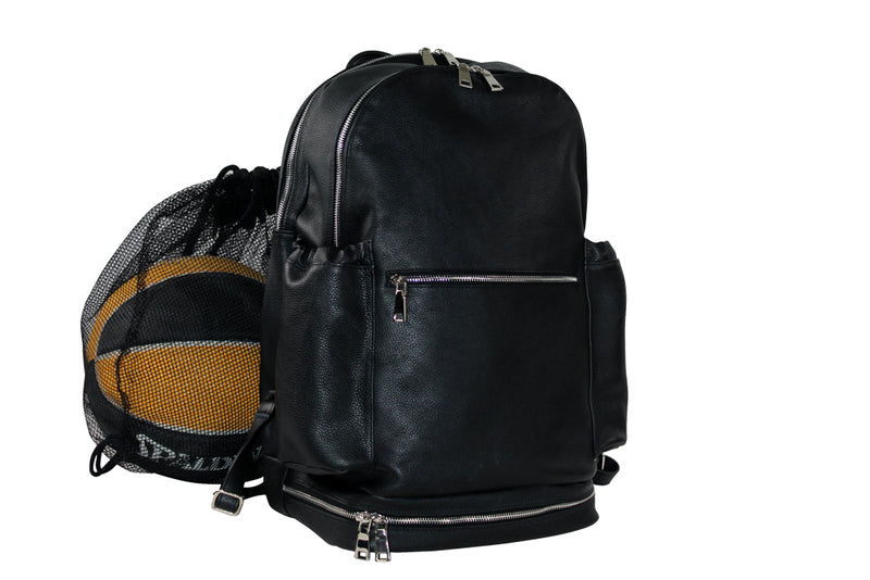 LEATHER BASKETBALL BACKPACK FOR ATHLETE