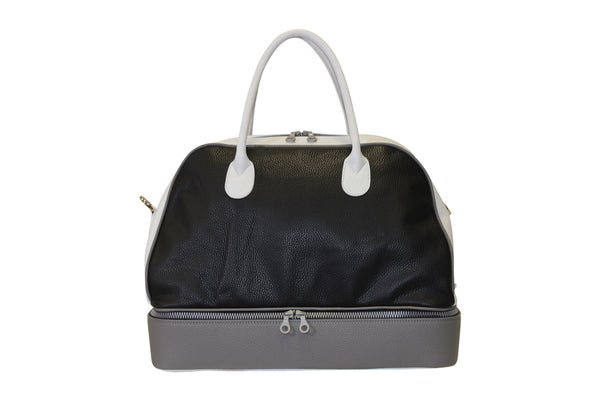 LEATHER DOUBLE BOTTOM BAG