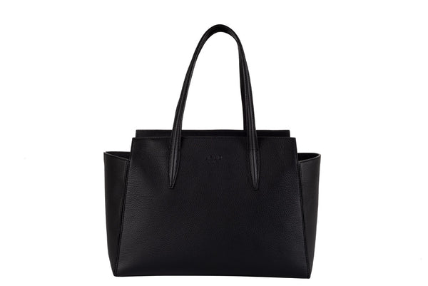 MIRTA Exclusive Tella Pebbled Tote by FR&D Firenze - Black