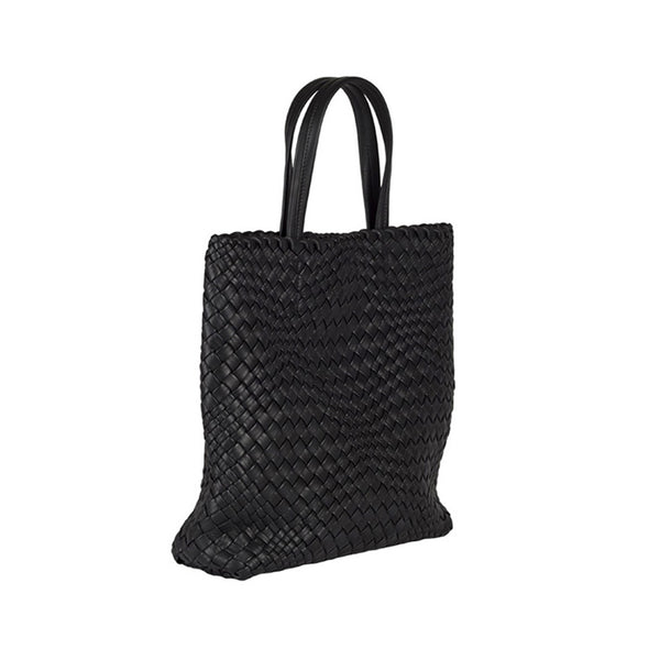 MIRTA Exclusive: Woven Shopper by Piero Via Palagina - Black