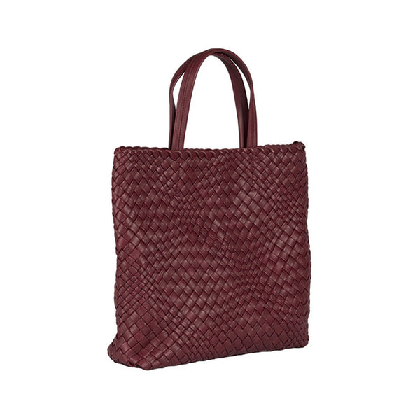 MIRTA Exclusive: Woven Shopper by Piero Via Palagina - Burgundy