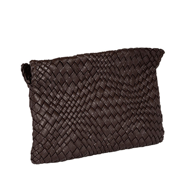 MIRTA Exclusive: Woven Pochette by Piero Via Palagina - Brown