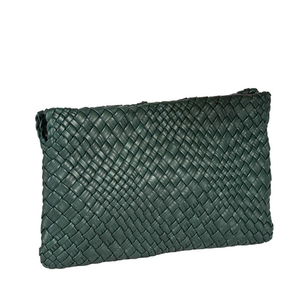MIRTA Exclusive: Woven Pochette by Piero Via Palagina - Green