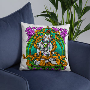 Zen Robot Throw Pillow