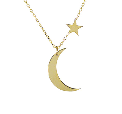 Colier aur Moon and Stars