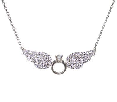 Colier argint Angel Wings