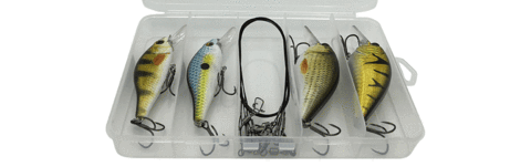 Crankbait Wobbler Set in Tackle-Box