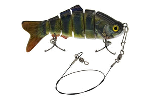 Wicked Compagnion | Swimbait Wobbler 2er Set | 10cm Barsch und Rotauge