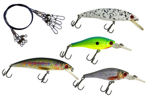 Minnow Wobbler Set mit Firetiger Wobbler