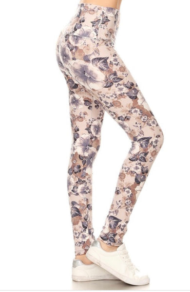 Cocoa Floral Leggings