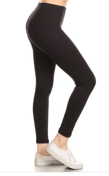 One Size Solid Leggings- Colors