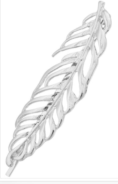 Open Metal Leaf Slide- Rhodium