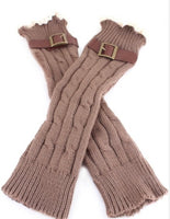 Lace & Buckle Leg Warmers