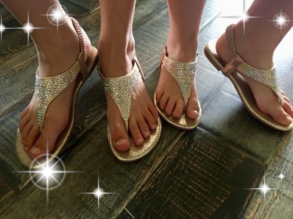 Rhinestone Sandals- Kids