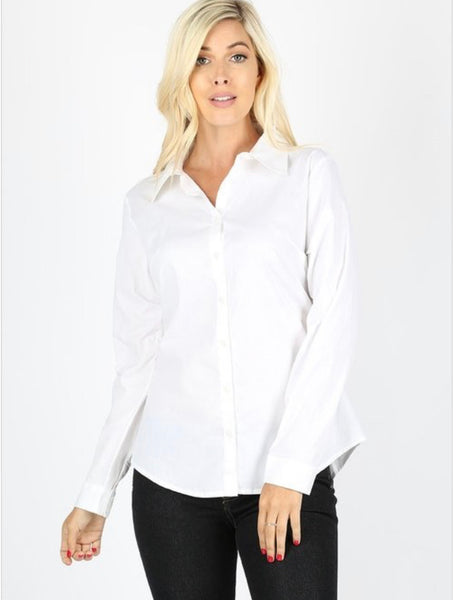 Pressed Collar Blouse
