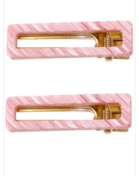 Open Rectangle Hair clips- several colors