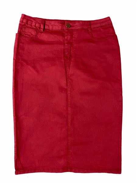 Kendall Denim- Burgundy