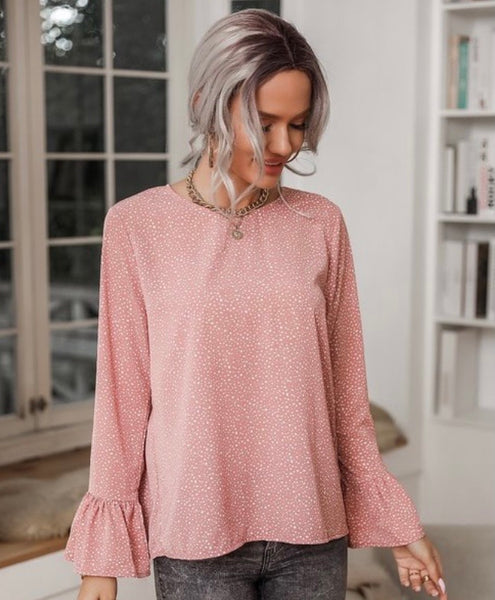 Dotty Blush Blouse