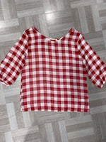 Brick Plaid Chiffon top- KIDS