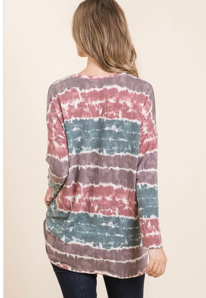 Long Sleeve Tie-Dye tunic