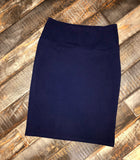 Meridian Midi Skirt - Blue