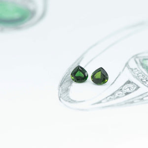 1.40 ct Green Tourmaline set - Canterbury Jewellers Shop
