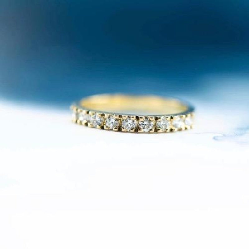 18ct yellow gold bead set wedder - Canterbury Jewellers Shop NZ