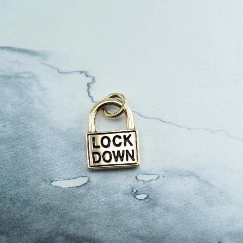 9ct Yellow gold Lockdown charm only - Canterbury Jewellers Shop NZ