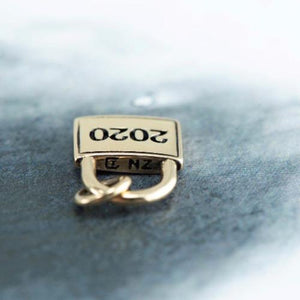 9ct Yellow gold Lockdown charm only - Canterbury Jewellers Shop