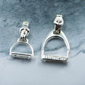 Medium and Large Stirrup Sterling Silver pendants made in New Zealand by Canterbury Jewellers