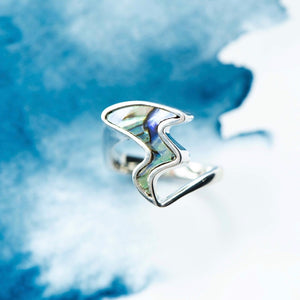 Paua river Sterling Silver dress ring