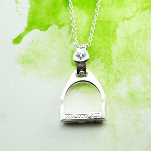 Sterling Silver Stirrup pendant