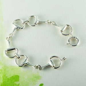 Sterling Silver snaffle bracelet with a bolt clasp