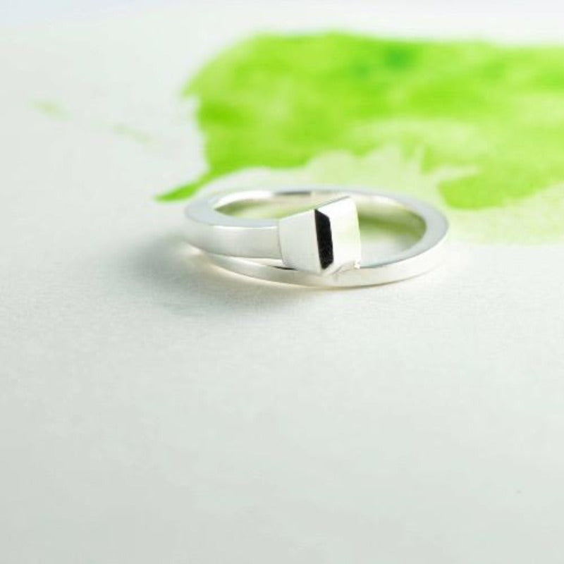Horse shoe nail ring in Sterling Silver