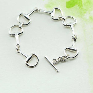 Snaffle bracelet in sterling Silver open
