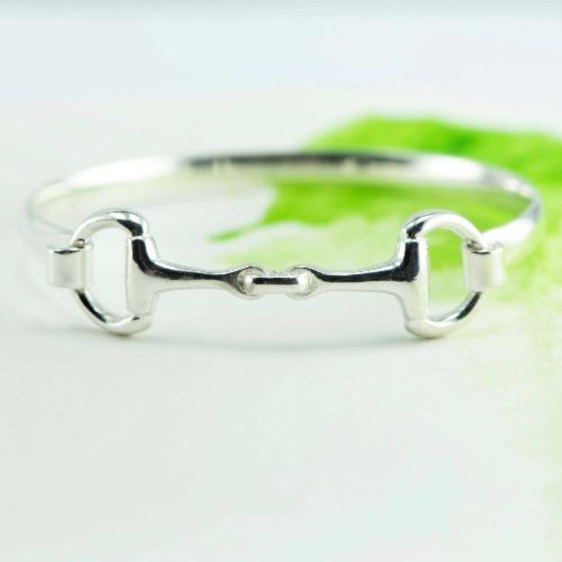 Snaffle bit NZ bangle, large in Sterling Silver