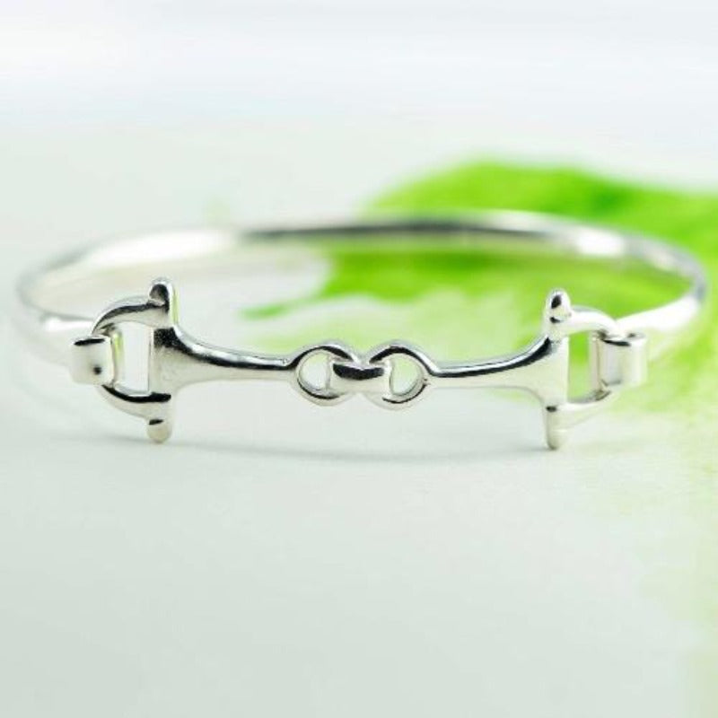 Snaffle bit NZ bangle medium in Sterling Silver