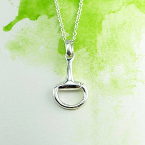 Snaffle bit NZ pendant in Sterling Silver with chain