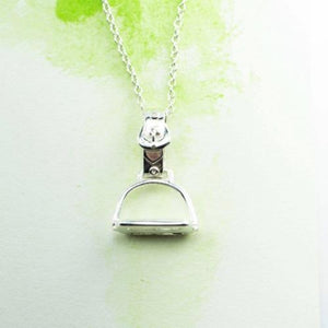 Stirrup medium Sterling Silver NZ pendant with Sterling Silver chain