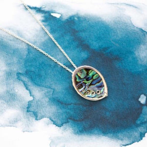 Abalone Shell Paua Sterling Silver pendant - Canterbury Jewellers Shop