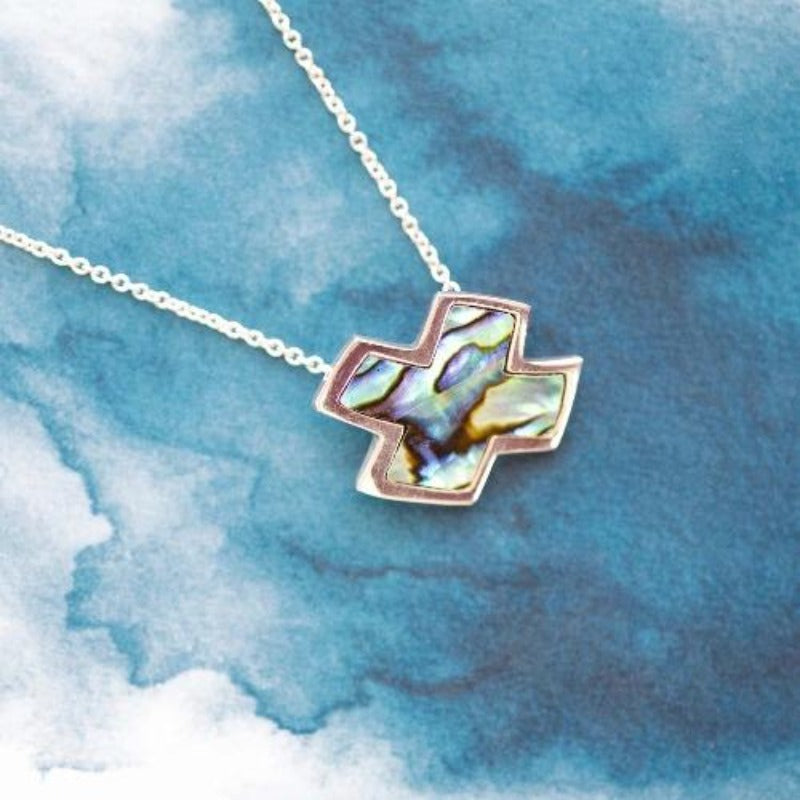Exx Paua Sterling Silver Slider pendant - Canterbury Jewellers Shop