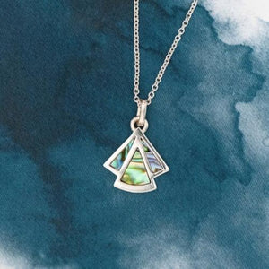 Hutt Sterling Silver pendant with natural NZ Paua - Canterbury Jewellers Shop