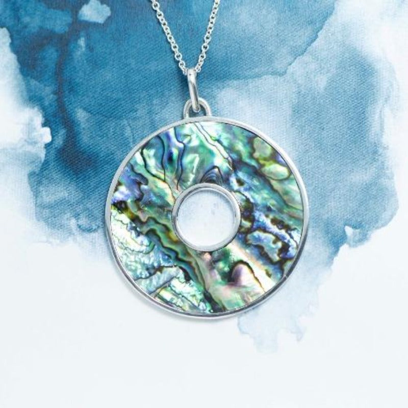 Iwi Paua shell Sterling Silver pendant - Canterbury Jewellers Shop