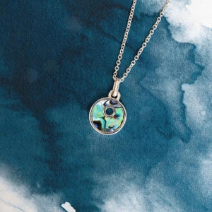 Little Iwi Sterling Silver pendant with natural NZ Paua - Canterbury Jewellers Shop