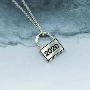 Lock down silver pendant with chain - Canterbury Jewellers Shop