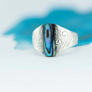 Paua Shell ritual ring - Canterbury Jewellers Shop
