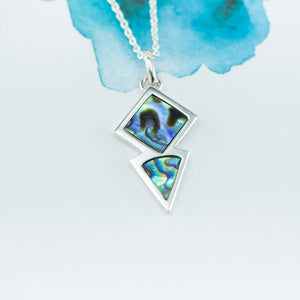 Point Sterling Silver pendant with NZ Paua - Canterbury Jewellers Shop